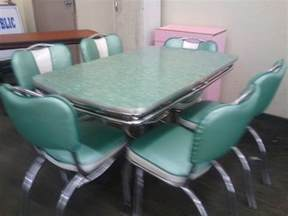 Vintage Formica Kitchen Table And Chairs Chrome Vintage 1950 S Formica Kitchen Table And Chairs Ebay