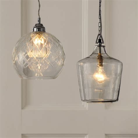ockley glass bottle ceiling pendant light corridor