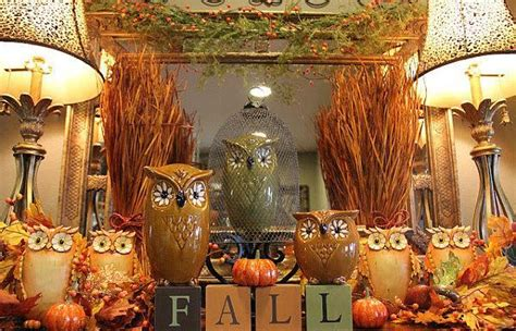 vintage fall decorations colorful fall decorating in vintage style for fireplace