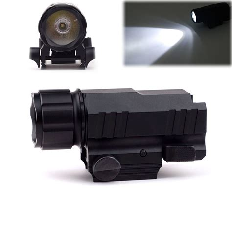 Led Flash Light Strobo mini 200lm cree led tactical strobe flashlight qd picatinny weaver rail combo ebay