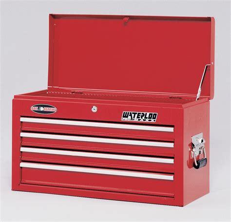 waterloo 4 drawer tool box waterloo 26 quot 4 drawer ball bearing tool chest red