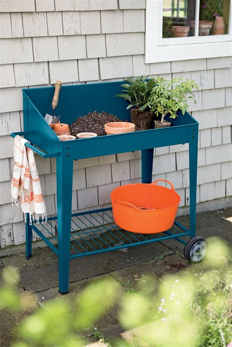 gardening bench with wheels demeter metal potting bench with wheels mobile potting bench