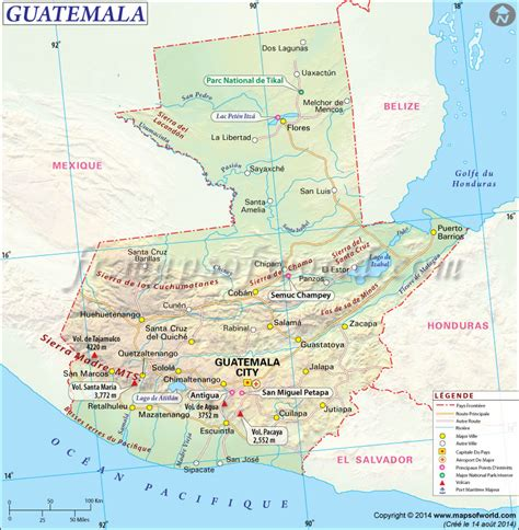 map usa and canada guatemala carte carte du guatemala