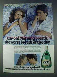 Overall Uh Oh 1978 scope mouthwash ad uh oh morning breath