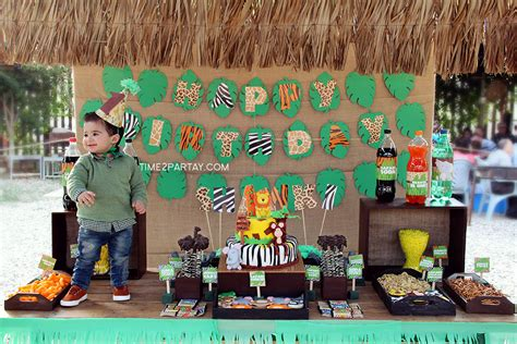 1st birthday jungle theme decorations jungle themed birthday time2partay