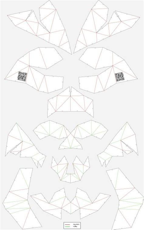 cardboard skull template unfold cardboard skull skull skullsforchange folding