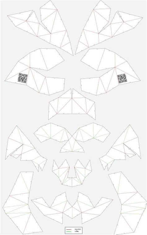 3d mask template unfold cardboard skull skull skullsforchange folding
