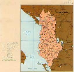 Albania Map In Europe by Nationmaster Maps Of Albania 17 In Total