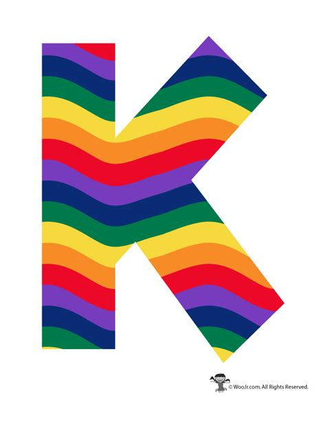printable alphabet rainbow rainbow letter k woo jr kids activities