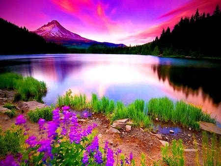 natural mirror lakes nature background wallpapers