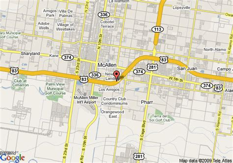 mcallen texas map map of mission tx area pictures to pin on pinsdaddy