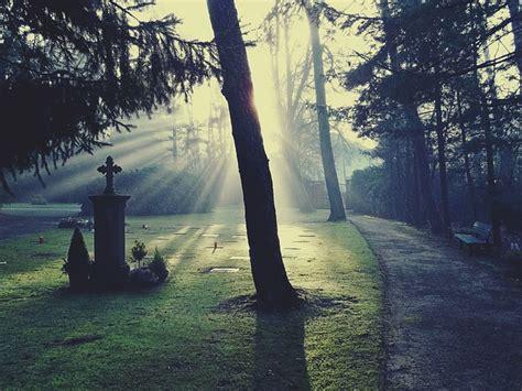 photo cemetery light glow sun  image
