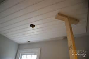 Beadboard Paintable Wallpaper - diy beadboard ceiling
