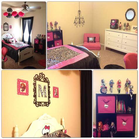monster high bedrooms monster high room zebra pink girls room suzys room