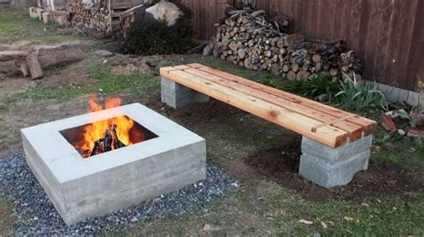how to make a garden bench from logs best how to make outdoor concrete and wood bench youtube