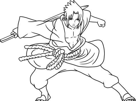 free kids coloring uchiha sasuke naruto cartoon