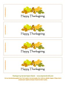 printable thanksgiving napkin ring craft crafts coloring books clip art printables recipes and