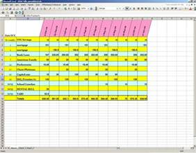 Excel Monthly Bill Template excel bill spreadsheet template