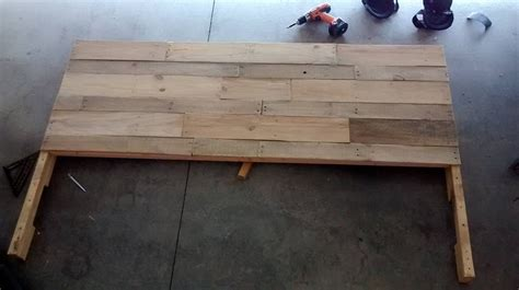 headboard made out of pallets headboard made out of pallets by eduardoluisg75