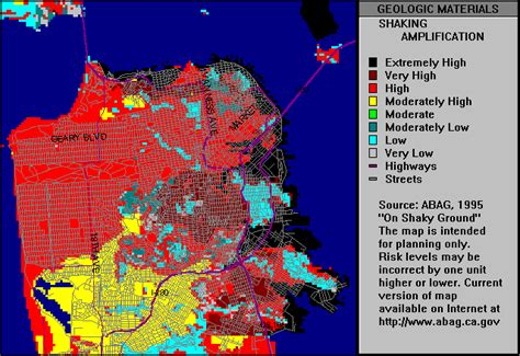 san francisco quake map exercise 2 the evidence from earthquakes