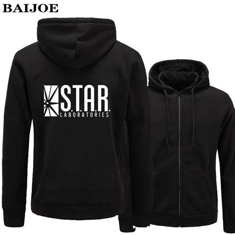 Sweater Hoodie Zipper Flash baijoe hoodies flash barry allen lab labs black sweatshirt hoodies zipper hooded jacket