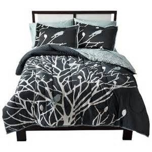 black and white tree bedding birds branches bedding collection target