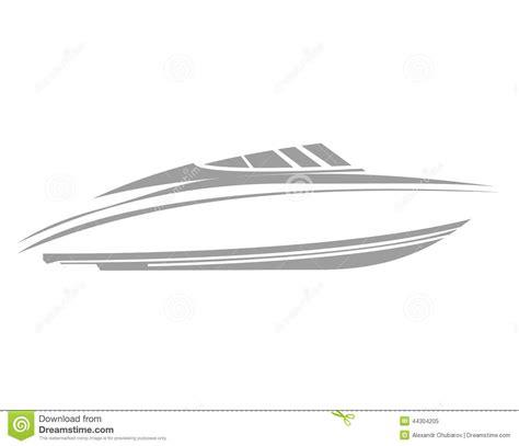 speed boat logo logo boat stock illustration image 44304205