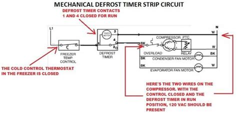 mechanical defrost timer wiring diagram wiring diagram