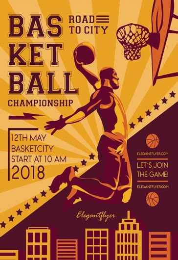 Free Basketball Flyer Template Psd