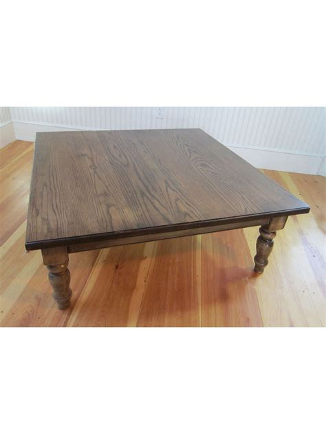 48 x 48 table 48 x 48 country farm plank top coffee table 401