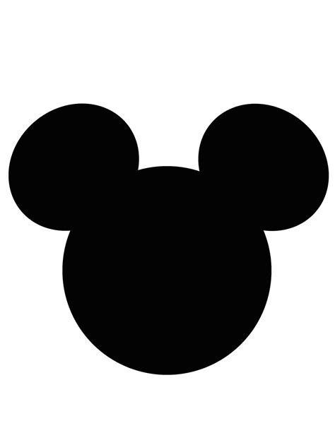 mouse silhouette template mickey mouse ear template cliparts co