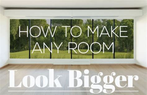 how to make a small bedroom look larger infographic how to make a small space look bigger 21257 | How to Make a Room Look Bigger 537x348
