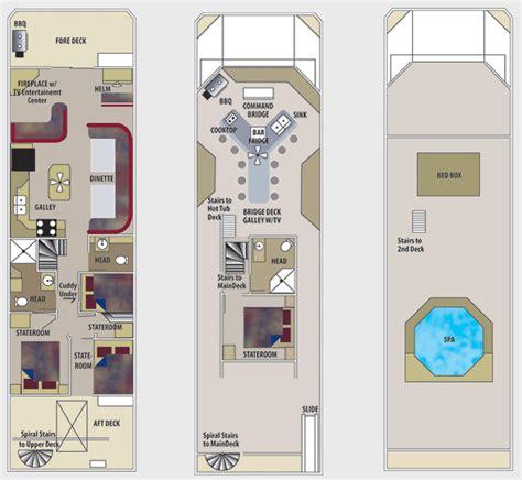 houseboat floor plans queen i houseboat