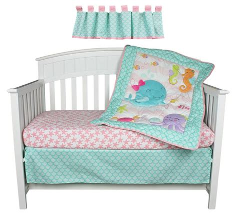Sea Themed Crib Bedding by Sea Sweeties Pink And Purple Fish 4 Baby Crib