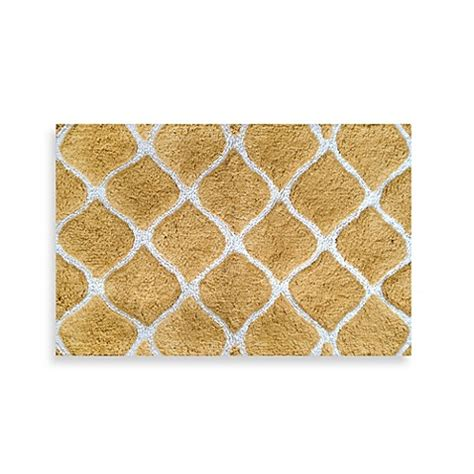Bed Bath Bathroom Rugs Colordrift Morocco Gold Bath Rug Bed Bath Beyond