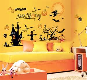 halloween wall mural spooky but lovely kids room halloween decorations ideas