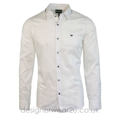 Details T Shirts emporio armani white shirt with contrast details shirts