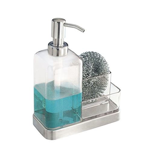 Kitchen Countertop Soap Dispenser Interdesign Forma Kitchen Countertop Soap Dispenser Sponge Scrubby New Ebay