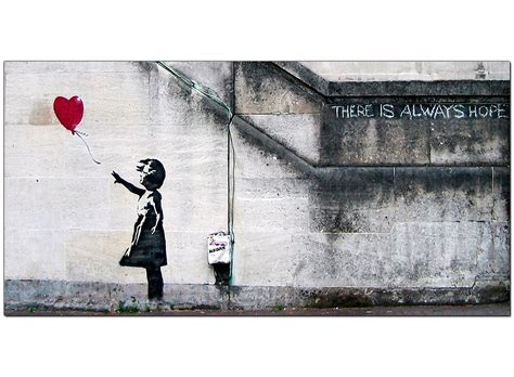 Banksy Wall Art Stickers banksy large canvas prints girl with the red balloon for