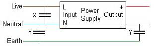 y capacitor leakage current y capacitor current leakage electromagnetic interference emi problem page 1