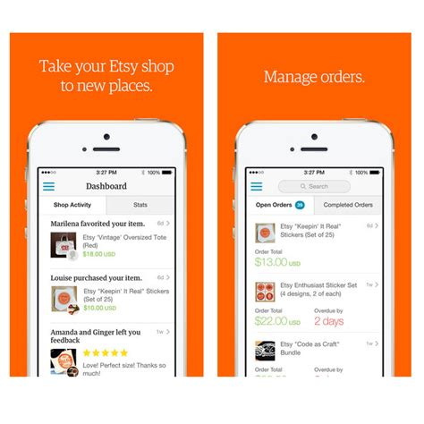 mobile seller app sell on etsy mobile etsy app for sellers handmadeology