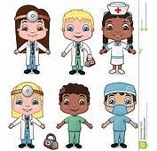 Los Doctores Y Las Enfermeras Fijaron 1 Fotograf&237a De