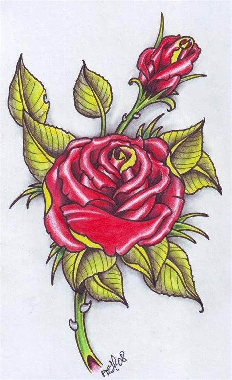 Tattoo Flash Rose | rose tattoo flash by vikingtattoo on deviantart