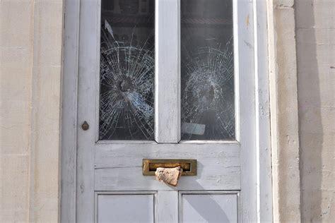Glass Door Broken Pin Broken Glass Background Backgrounds On