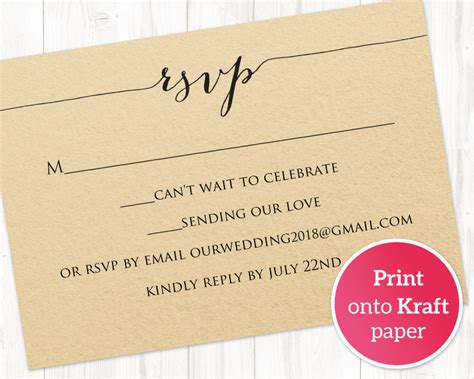 rsvp card template rsvp card printable template 183 wedding templates and