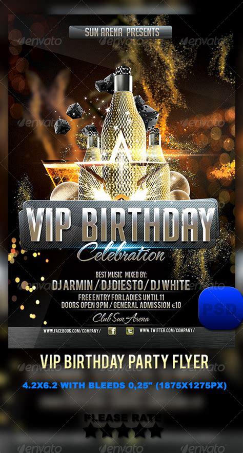 vip birthday flyer by stormclub graphicriver