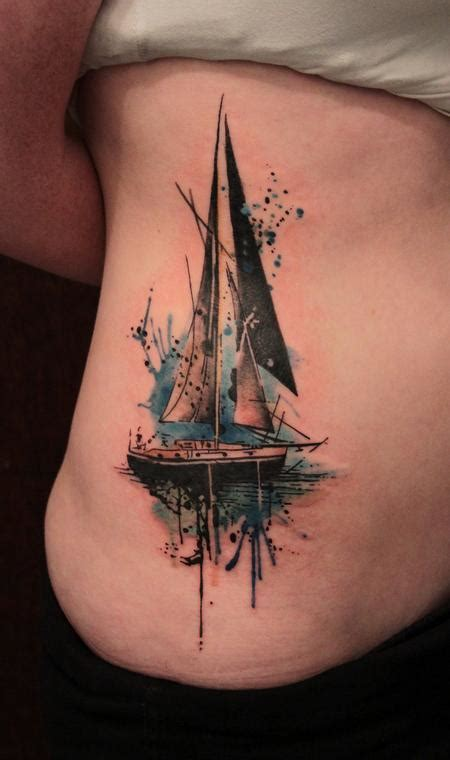 sailboat by gene coffey tattoonow