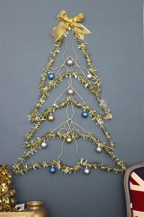how to make a wire hanger christmas tree how to make a wire tree wire hangers card displays and hanger