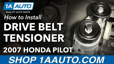 how to replace belts youtube how to install replace serpentine drive belt tensioner 2005 08 honda pilot youtube