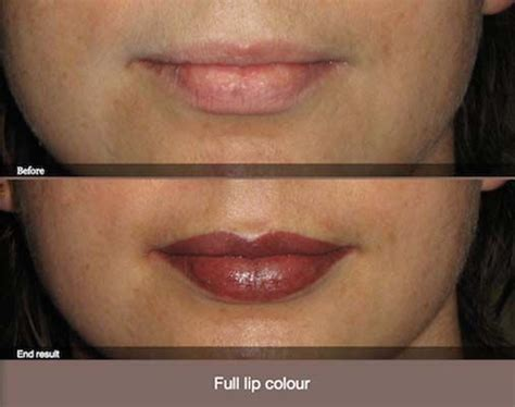lips after tattoo cosmetic tattoo lips before after hair and beauty